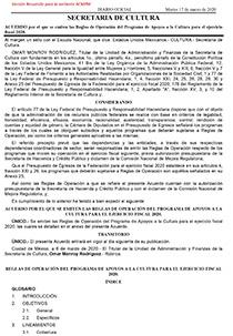 Reglas De Operación AMCPM 2020